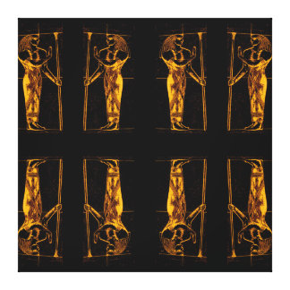 Sacerdotes egipcios en el amarillo de oro II C1 Impresiones De Lienzo