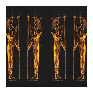 Sacerdotes egipcios en el amarillo de oro III C1 Lona Envuelta Para Galerías