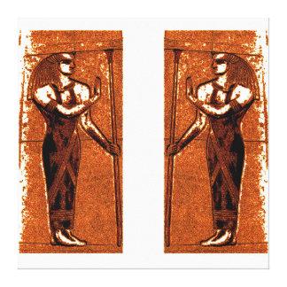 Sacerdotes egipcios en el negro I C1 SDL del oro Lona Envuelta Para Galerías
