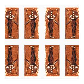 Sacerdotes egipcios en el negro II C1 SDL del oro Impresion En Lona