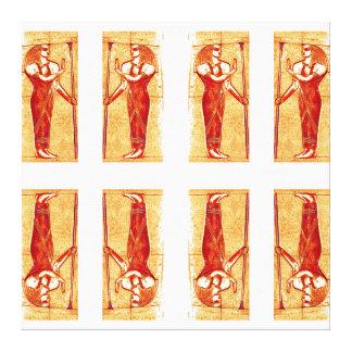 Sacerdotes egipcios en el oro rojo blanco II C1 Impresión En Lona