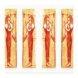 Sacerdotes egipcios en el oro rojo blanco III C1 Impresión En Lona Estirada