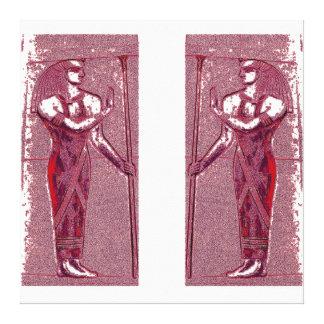 Sacerdotes egipcios en el rojo de rubíes I C1 SDL Impresión En Lienzo Estirada