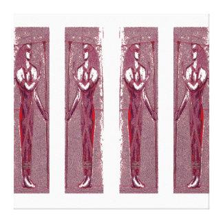 Sacerdotes egipcios en el rojo de rubíes III C1 Impresion En Lona