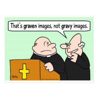 sacerdotes grabados de las imágenes de la salsa postal