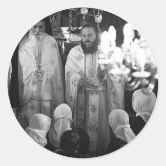 Sacerdotes griegos etiqueta