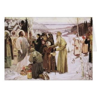 Sacerdotes rusos y adoración Jesús de los Tarjeta De Felicitación