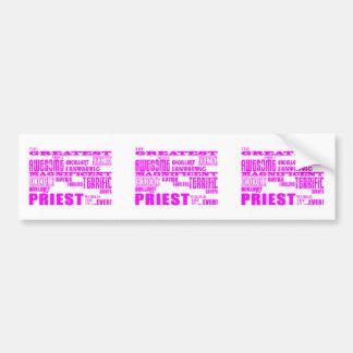 Sacerdotes: Sacerdote más grande rosado Pegatina Para Auto