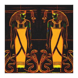Sacerdotes y cobras egipcios en el amarillo I C1 Lona Estirada Galerias