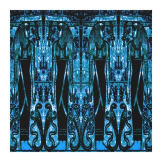 Sacerdotes y cobras egipcios en el azul III C1 SDL Lona Estirada Galerias