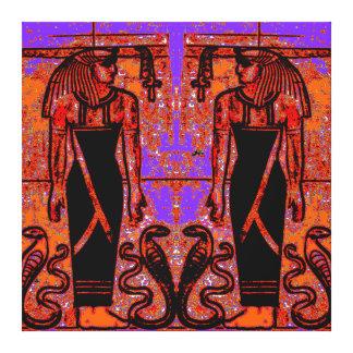 Sacerdotes y cobras egipcios en el jardín I C1 SDL Lona Estirada Galerias