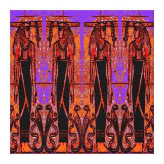 Sacerdotes y cobras egipcios en el jardín III C1 Impresiones En Lienzo Estiradas