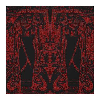Sacerdotes y cobras egipcios en el rojo negro I C1 Impresión En Lona Estirada
