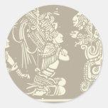 Sacerdotes y serpiente mayas de Vision Pegatinas Redondas