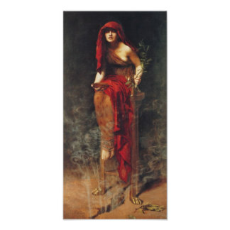 Sacerdotisa de Delphi del poster pre Raphaelite