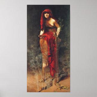 Sacerdotisa de Delphi del poster pre Raphaelite Póster