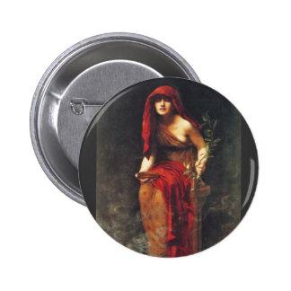 Sacerdotisa de Delphi Pin Redondo De 2 Pulgadas
