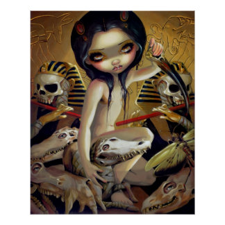 Sacerdotisa de la IMPRESIÓN Egipto del ARTE de Nya
