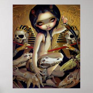 Sacerdotisa de la IMPRESIÓN Egipto del ARTE de Nya Impresiones
