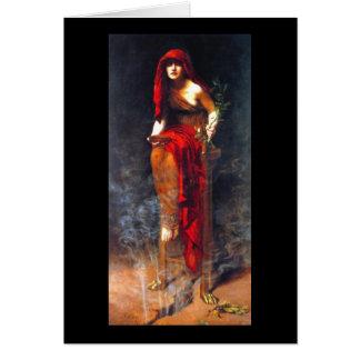 Sacerdotisa de la pintura de la bella arte del tarjeta de felicitación