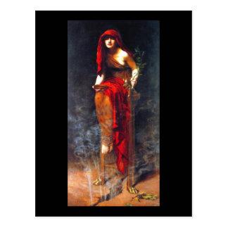 Sacerdotisa de la pintura de la bella arte del postal