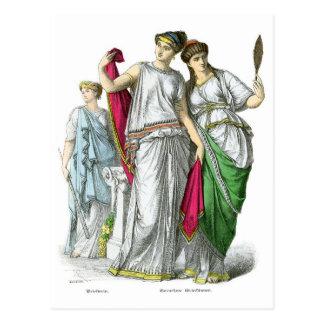 Sacerdotisa del griego clásico y mujeres nobles postales