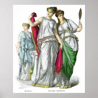 Sacerdotisa del griego clásico y mujeres nobles póster
