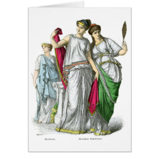 Sacerdotisa del griego clásico y mujeres nobles tarjeta