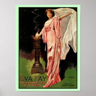 Sacerdotisa del ~The Fay de Eva alta del misticism Póster