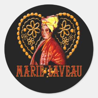 Sacerdotisa del vudú de Marie Laveau alta Pegatina Redonda