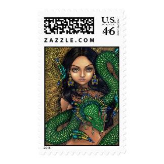 Sacerdotisa sello de Quetzalcoatl