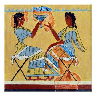 sacerdotisas del fresco del taburete de campo que perfect poster