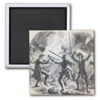 Sacheverell rioters destroy part of a chapel 2 inch square magnet