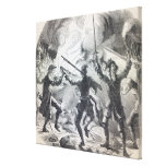 Sacheverell rioters destroy part of a chapel stretched canvas print