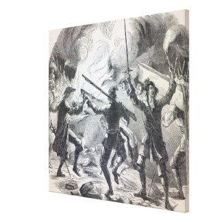 Sacheverell rioters destroy part of a chapel canvas print