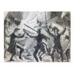 Sacheverell rioters destroy part of a chapel postcards