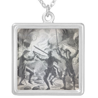 Sacheverell rioters destroy part of a chapel silver plated necklace