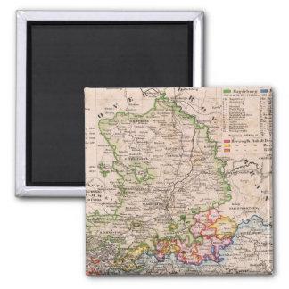 Sachsen, Anhalt 2 Inch Square Magnet