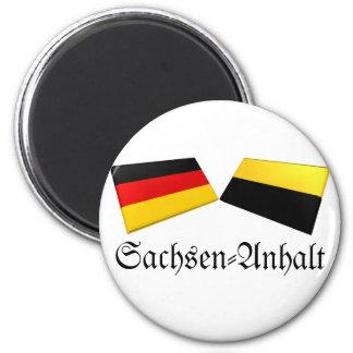 Sachsen-Anhalt, Germany Flag Tiles 2 Inch Round Magnet