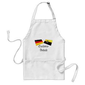 Sachsen-Anhalt, Germany Flag Tiles Adult Apron