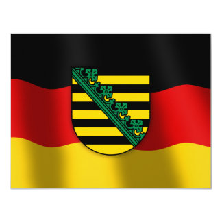 Sachsen coat of arms card