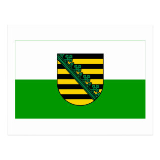 Sachsen Flag Postcard