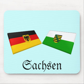 Sachsen, Germany Flag Tiles Mouse Pad