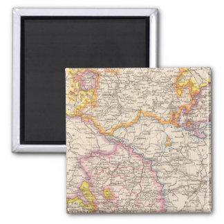 Sachsen, Mecklenburg, Anhalt Atlas Map 2 Inch Square Magnet