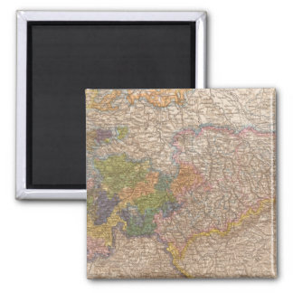 Sachsen, Thuringische Staaten Atlas Map 2 Inch Square Magnet