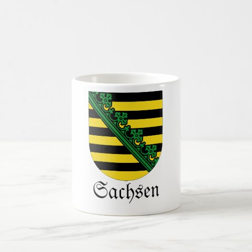 Sachsen Wappen Coat of Arms Classic White Coffee Mug