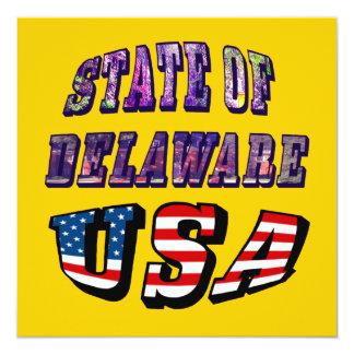 """Sacie del texto de la imagen de Delaware y de la Invitación 5.25"""" X 5.25"""""""