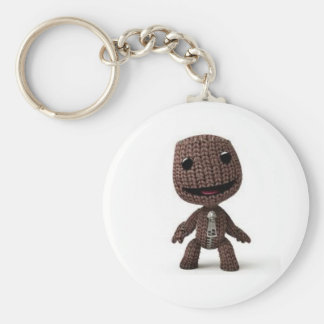 Sack boy basic round button keychain