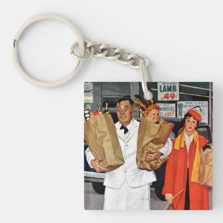 Sack Full of Trouble Double-Sided Square Acrylic Keychain