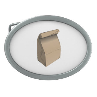 Sack Lunch Oval Belt Buckle